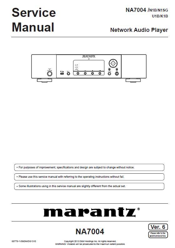 Marantz NA7004 Service Manual