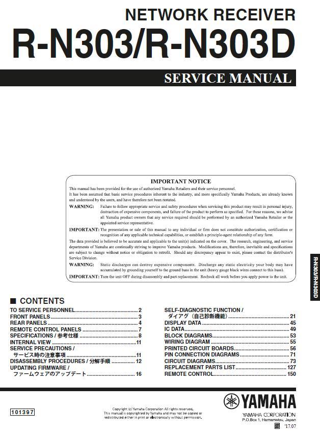 Yamaha R N303d Service Manual Yamaha Aplifiers Manual Guide