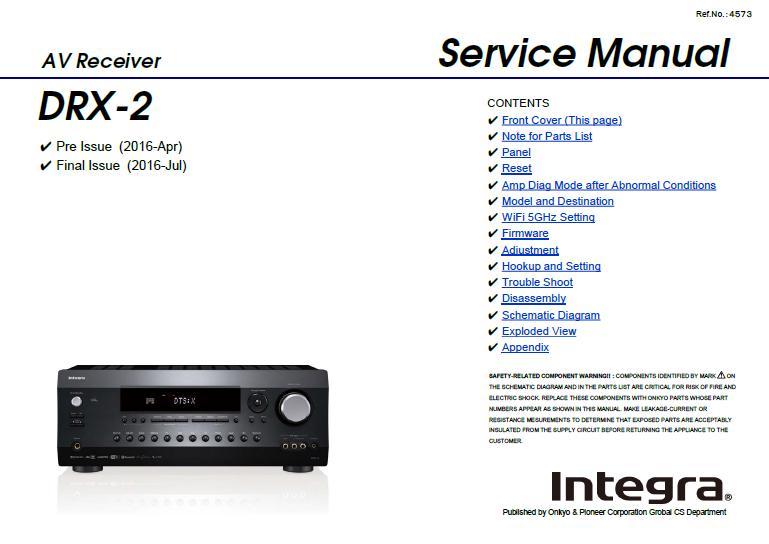 Integra DRX-2 Service Manual