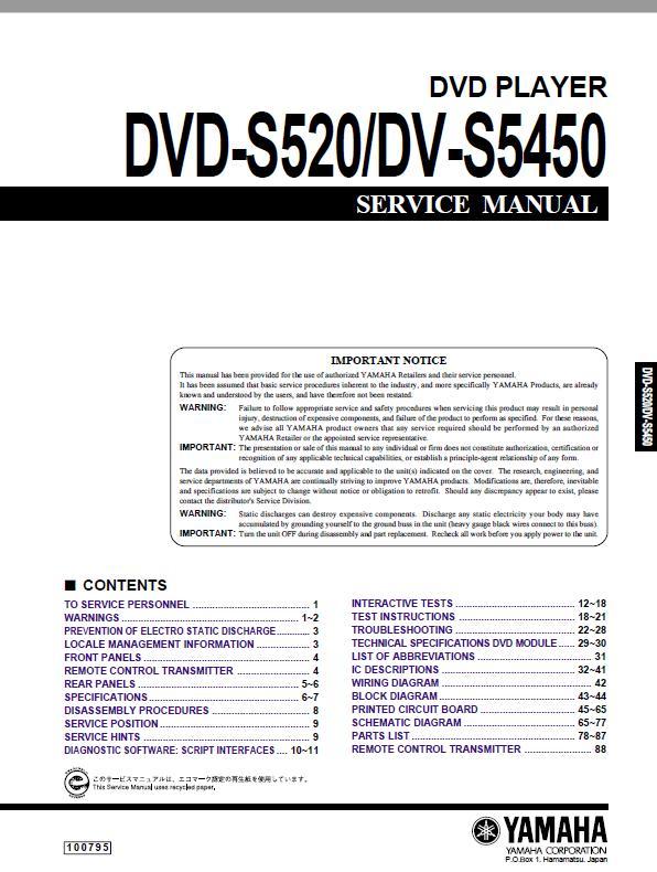 Yamaha Dvd Dv