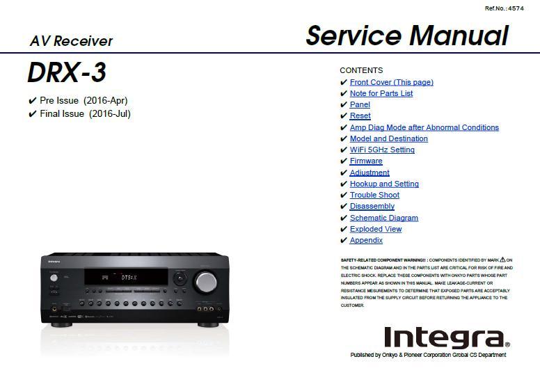 Integra DRX-3 Service Manual