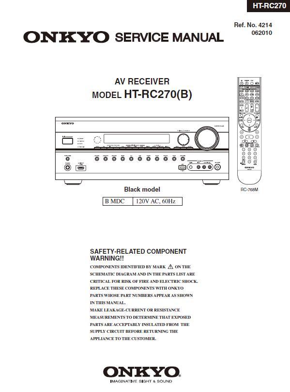 Onkyo HT-RC270 Service Manual