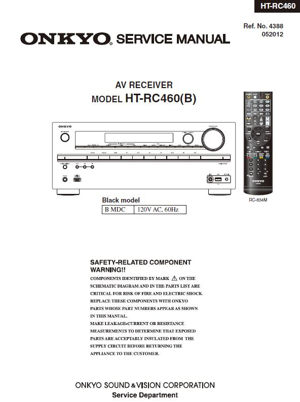 Onkyo HT-RC460 Service Manual