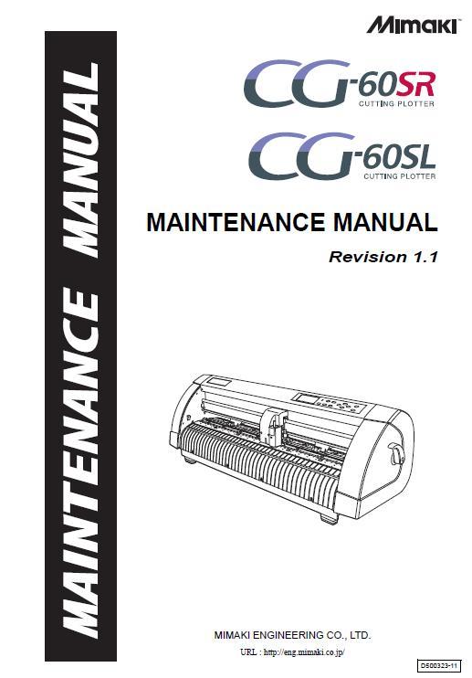 Mimaki CG-60SR/60SL Maintenance Manual