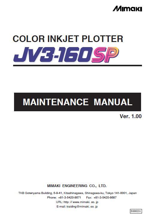 Mimaki JV3-160SP Service Manual