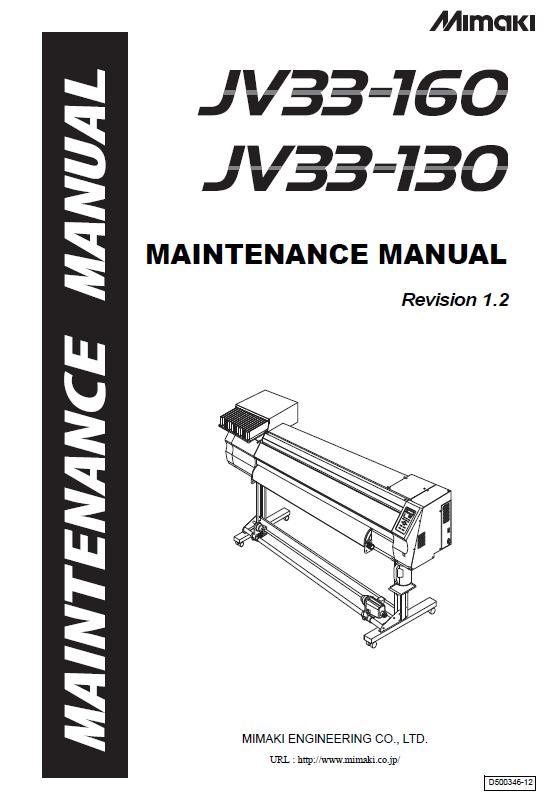 Mimaki JV33-130/Mimaki JV33-160 Service Manual