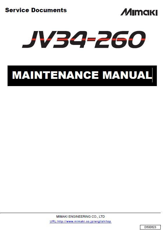Mimaki JV34-260 Maintenance Manual