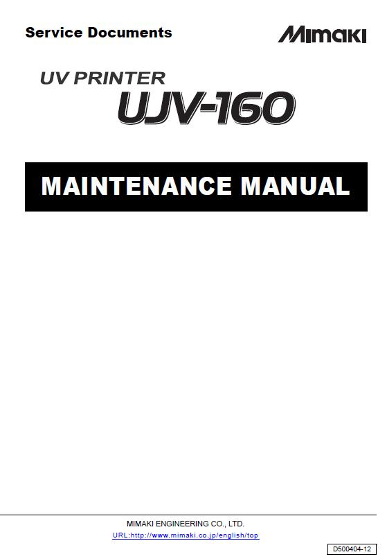 Mimaki UJV-160 Maintenance Manual