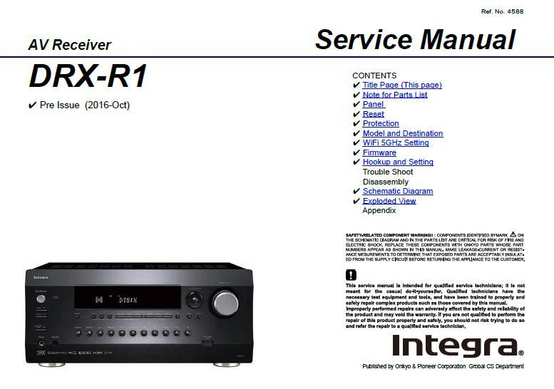 Integra DRX-R1 Service Manual