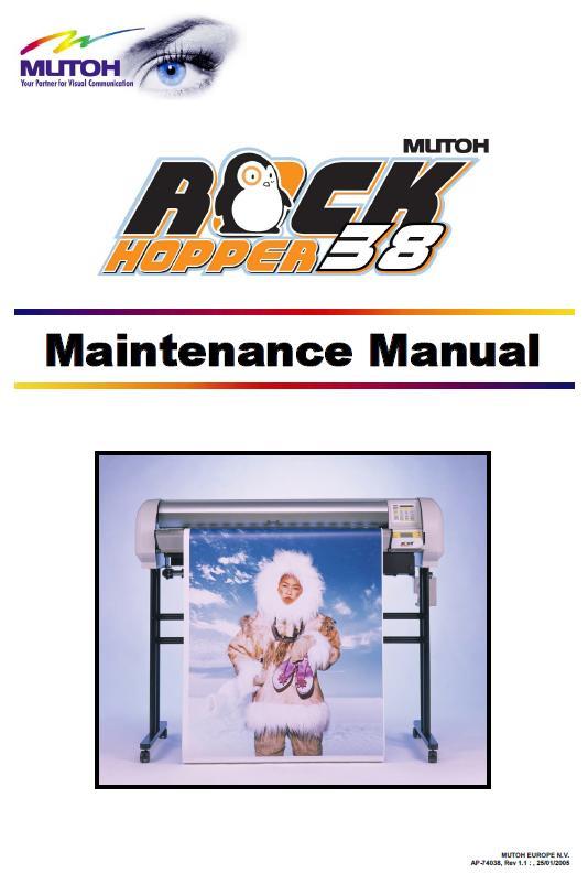 Mutoh Rockhopper 38 Service Manual