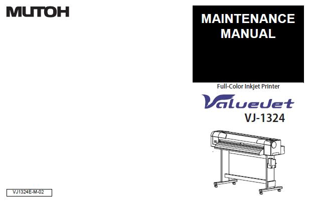 Mutoh VJ-1324 Service Manual