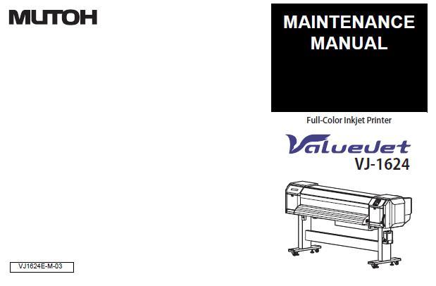 Mutoh VJ-1624 Service Manual
