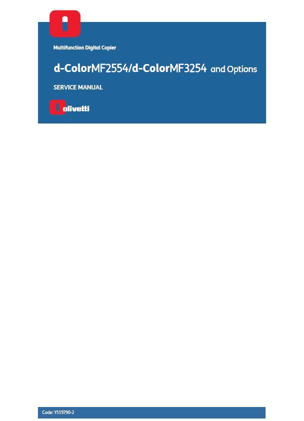 Olivetti d-ColorMF2554/d-ColorMF3254 Service Manual