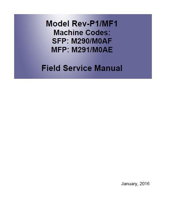 Ricoh SP 150/SP 150w/SP 150SU/SP 150SUw Service Manual