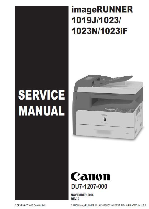 Canon imageRUNNER 1019J/1023/1023N/1023iF Service Manual