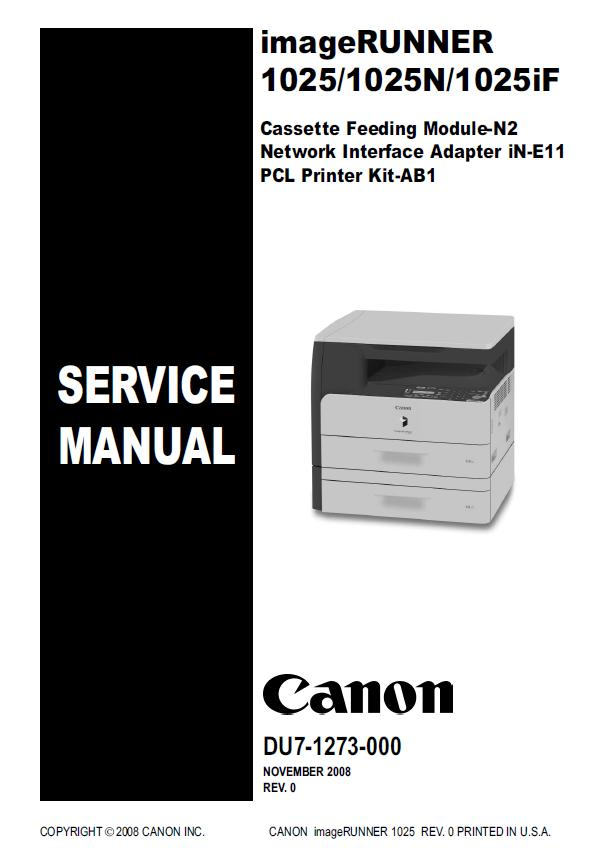 Canon imageRUNNER 1025/1025N/1025iF Service Manual