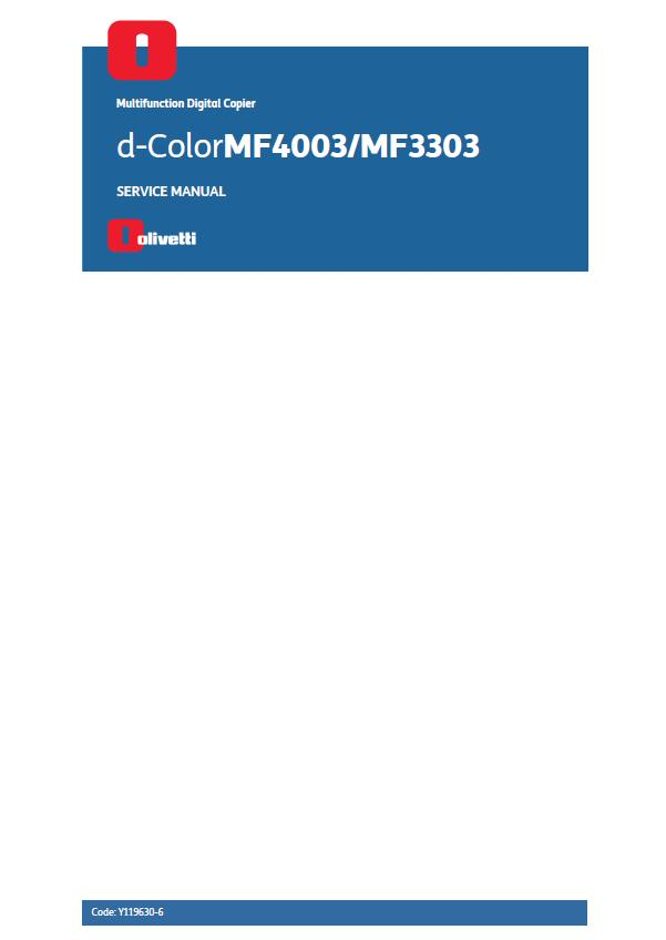 Olivetti d-ColorMF4003/MF3303 Service Manual