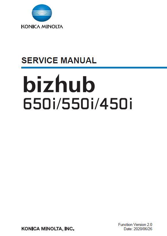 Konica Minolta BIZHUB 450i/BIZHUB 550i/BIZHUB 650i Service Manual