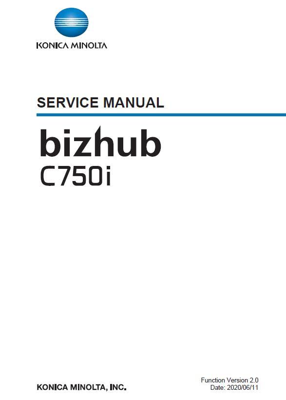 Konica Minolta BIZHUB C750i Service Manual